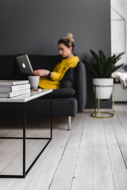 caucasian girl person woman minimal sofa1