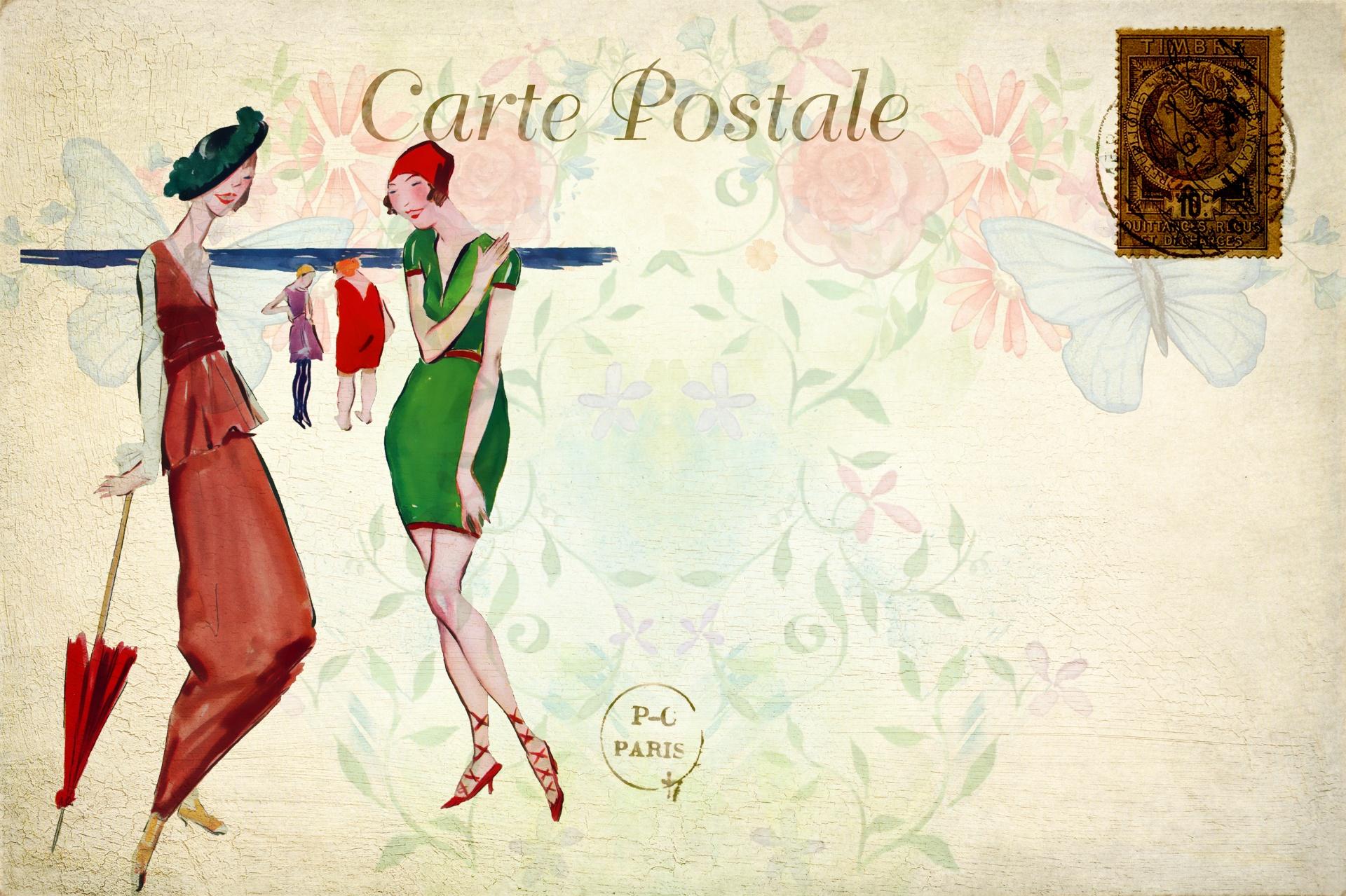 woman vintage french postcard 1583146339ZqX1
